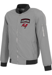 Tampa Bay Buccaneers Super Bowl LV Champions Bomber Heavyweight Jacket - Grey