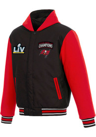 Tampa Bay Buccaneers Super Bowl LV Champions Poly-Twill Heavyweight Jacket - Black
