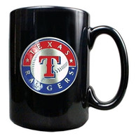 Texas Rangers 15oz Black Marble Mug