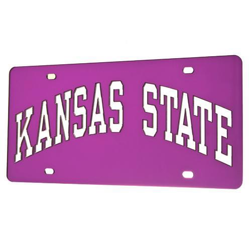 K-State Wildcats Arched Team Name Purple Car Accessory License Plate -  1637362