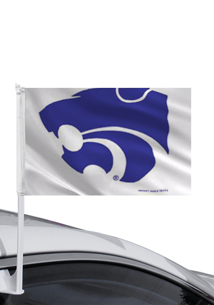 K-State Wildcats 12x14 Double Sided Silk Screen Car Flag - Image 1