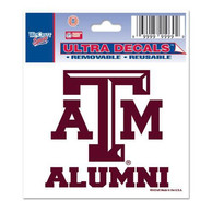 Texas A&M Aggies 3x4 Alumni Auto Decal - Maroon