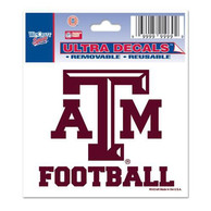 Texas A&M Aggies 3x4 Auto Decal - Maroon
