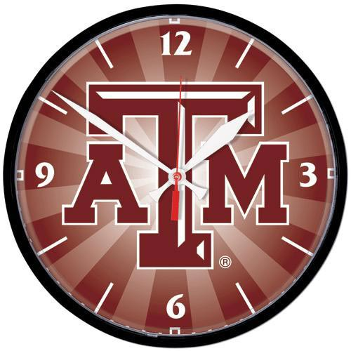 Texas A&M Aggies Round Wall Clock - Image 1