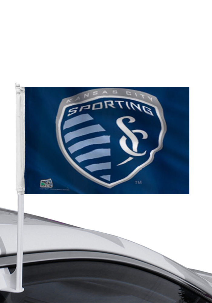 Sporting Kansas City 11x14 Navy Polyester Car Flag - Navy Blue - Image 1