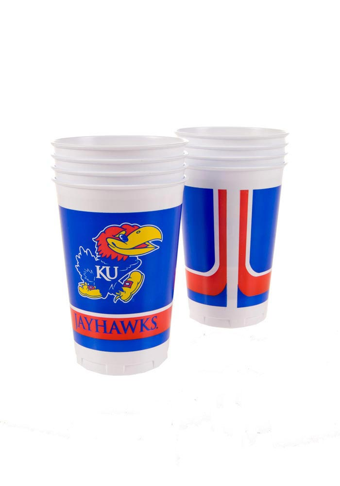 Kansas Jayhawks 20oz 8 Pack Disposable Cups - Image 1
