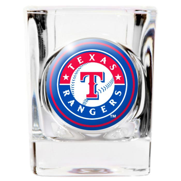 Texas Rangers 2oz Square Cry`s Coat Shot Glass - Image 1
