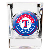 Texas Rangers 2oz Square Cry`s Coat Shot Glass