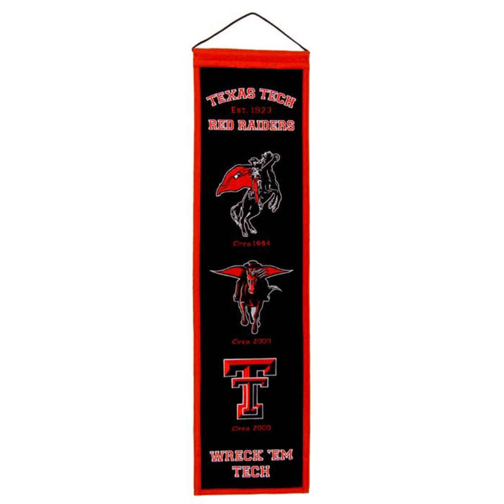 Texas Tech Red Raiders 8x32 Heritage Banner - Image 1
