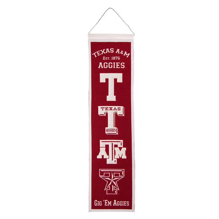 Texas A&M Aggies 8x32 Heritage Banner - Image 1