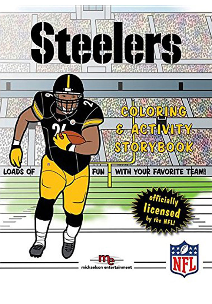 Pittsburgh Steelers Coloring & Activity Activity Book, Black, Paper