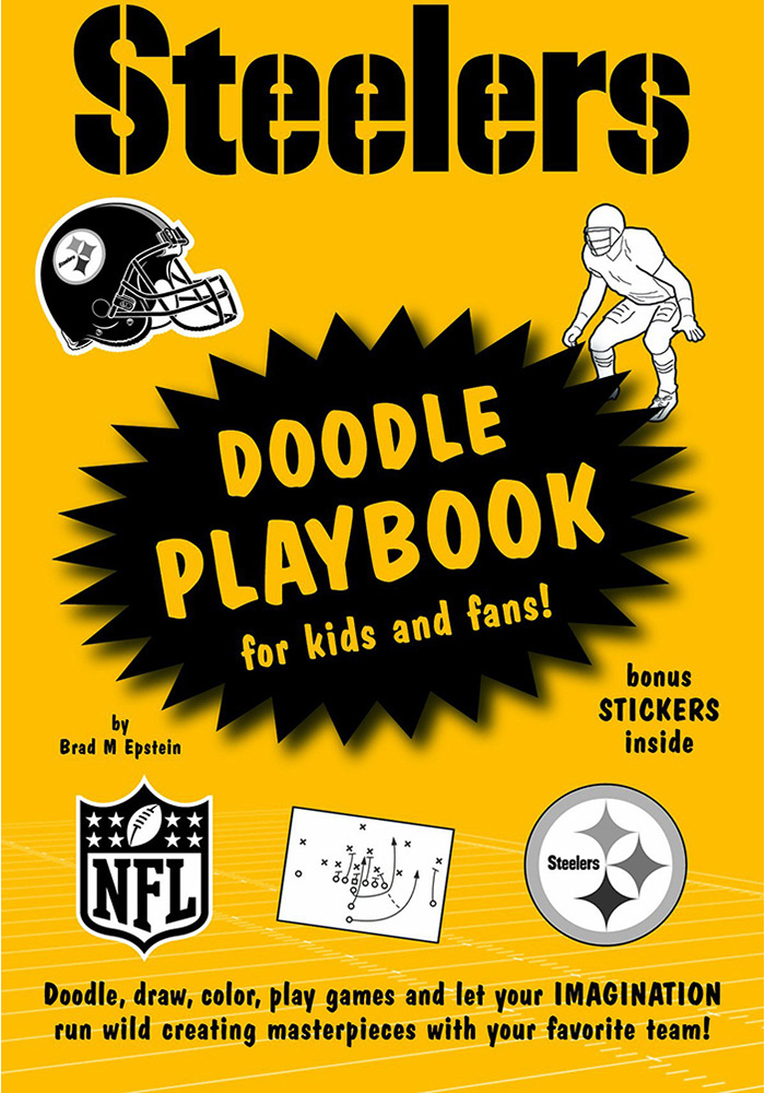 Pittsburgh Steelers Doodle Activity Book, Black, Paper