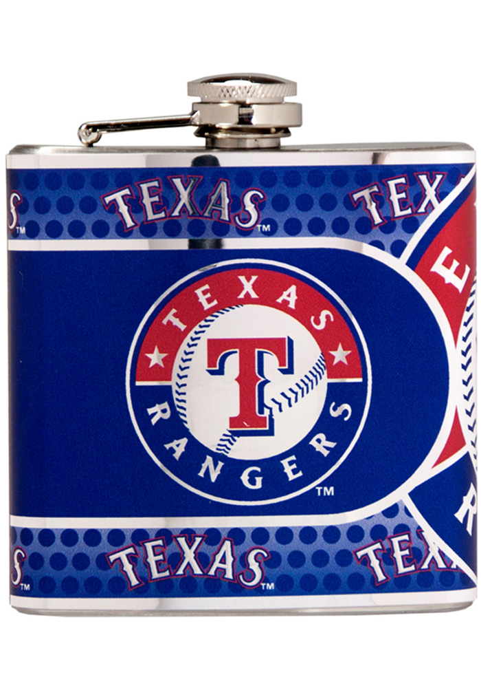 Texas Rangers 6oz Stainless Steel Flask - Image 1