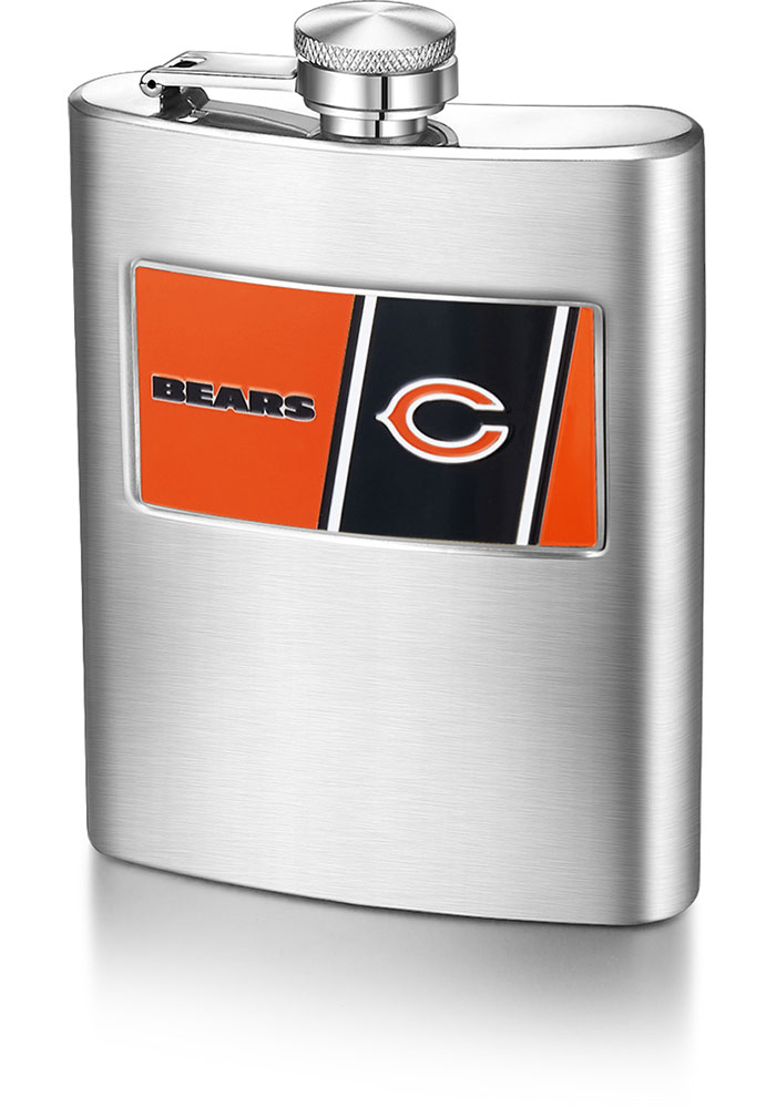 Chicago Bears 8 OZ Steel Hip Flask - Image 1