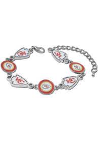 Kansas City Chiefs Womens Chain Bracelet - Red