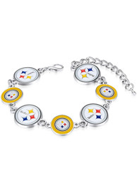 Pittsburgh Steelers Womens Chain Bracelet - Black