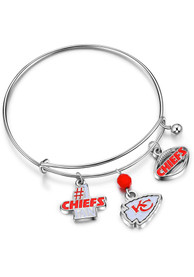Kansas City Chiefs Womens Charm Bracelet - Red