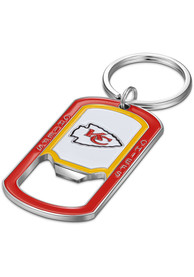 KC Chiefs Stainless Steel Bottle Opener Keychain