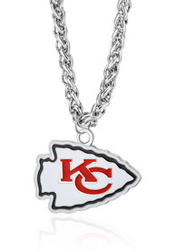 Kansas City Chiefs Large Logo Necklace - Red