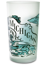 Michigan Frosted Glass Pint Glass