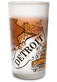 Detroit Frosted Glass Pint Glass