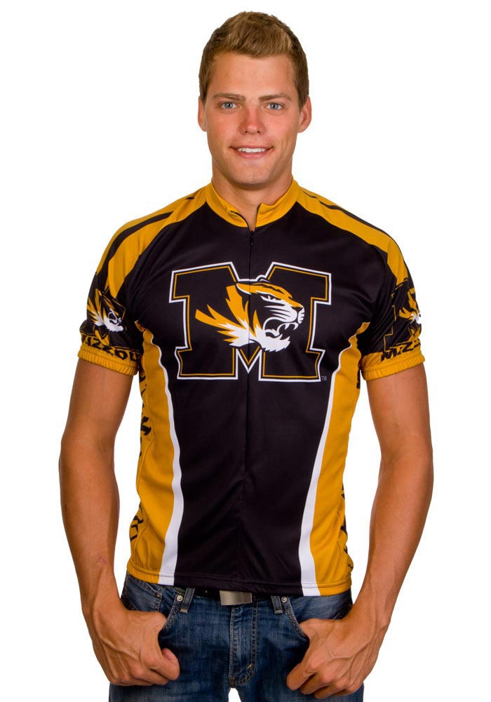 Missouri Tigers Mens Black All Over Cycling Jersey - Image 1