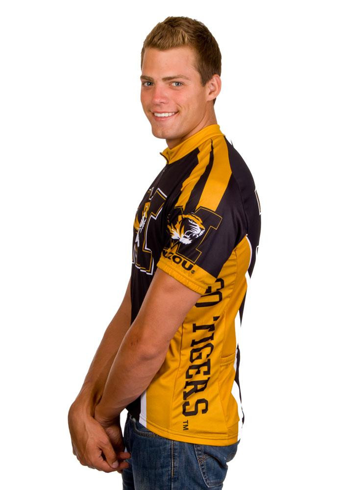 Missouri Tigers Mens Black All Over Cycling Jersey - Image 3