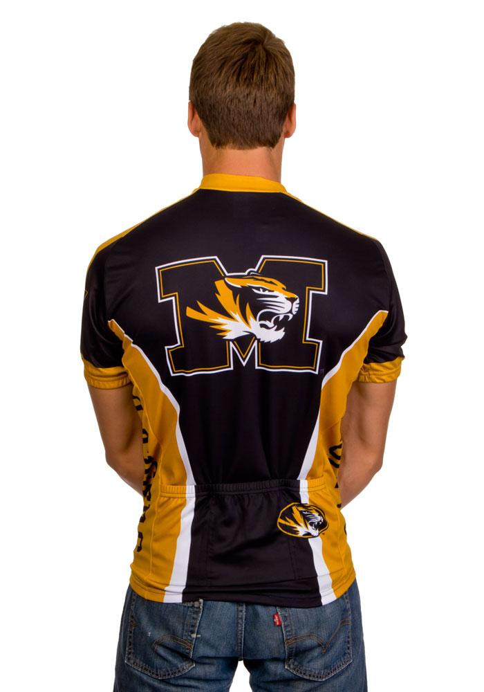 Missouri Tigers Mens Black All Over Cycling Jersey - Image 4