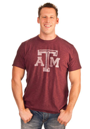 '47 Texas A&M Aggies Mens Cardinal Logo Scrum Fashion Tee