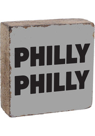 Philadelphia Philly Philly Rustic Block Sign