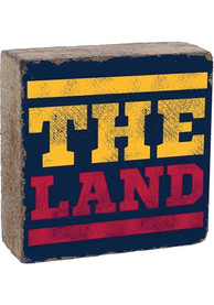 Cleveland The Land Rustic Block Sign