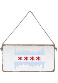 Chicago Flag Skyline Mini Plank Sign In Store Only