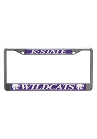 K-State Wildcats Purple Domed Chrome License Frame