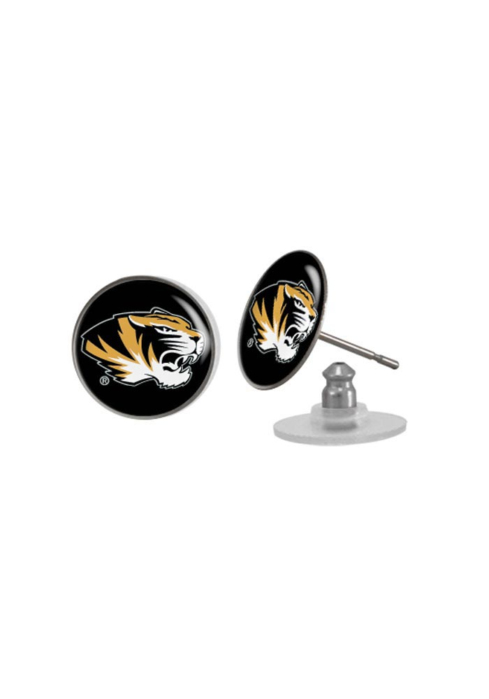 Missouri Tigers Domed Post Womens Earrings - Image 1