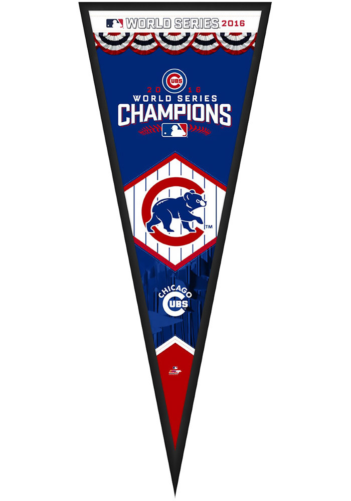 Chicago Cubs 13x33 Pennant Framed Posters - Image 1