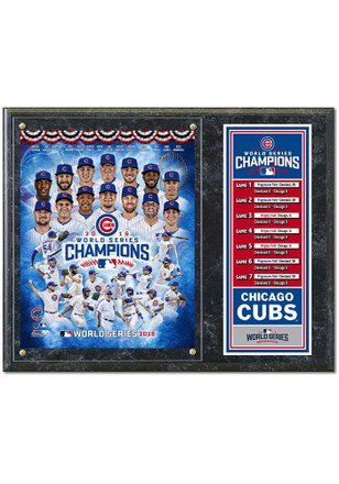 Chicago Cubs World Series Champs Players Framed Posters