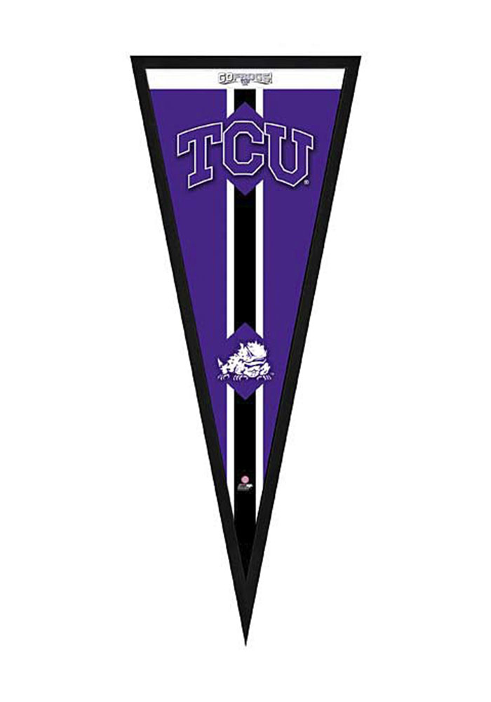 TCU Horned Frogs Pennant Framed Posters - Image 1