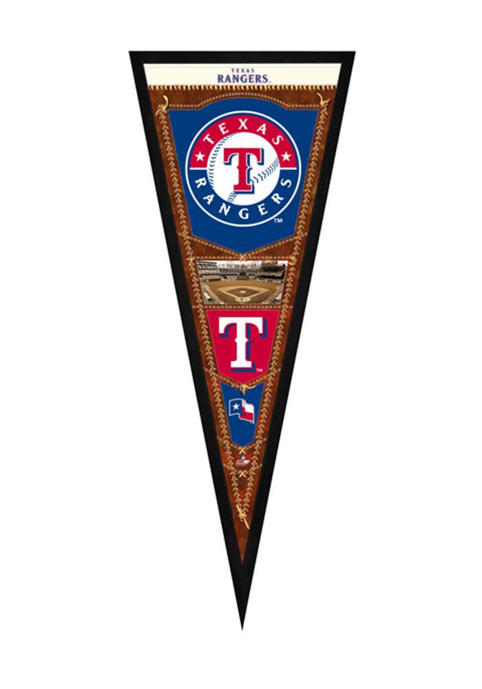 Texas Rangers Pennant Framed Posters - Image 1