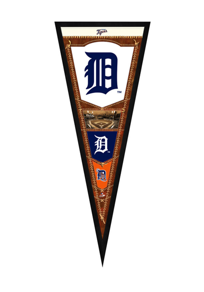 Detroit Tigers Pennant Framed Posters - Image 1
