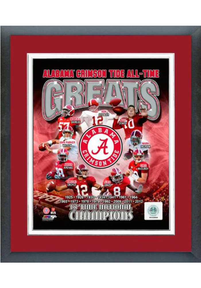 Alabama Crimson Tide All Time Great Frame Framed Posters - Image 1