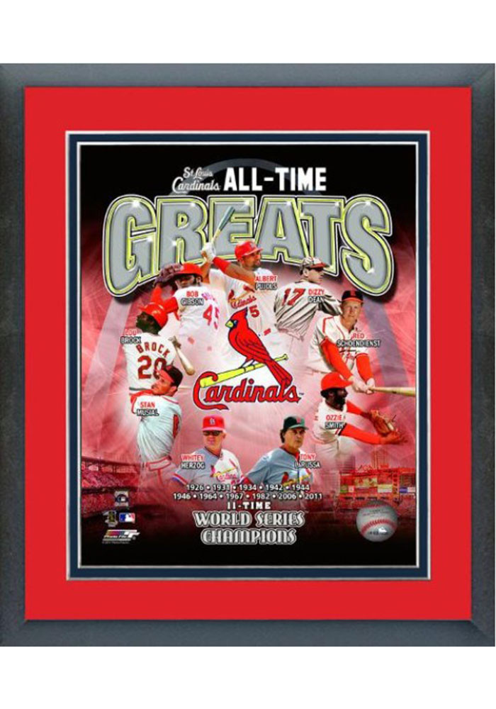 St Louis Cardinals All Time Great Frame Framed Posters - Image 1