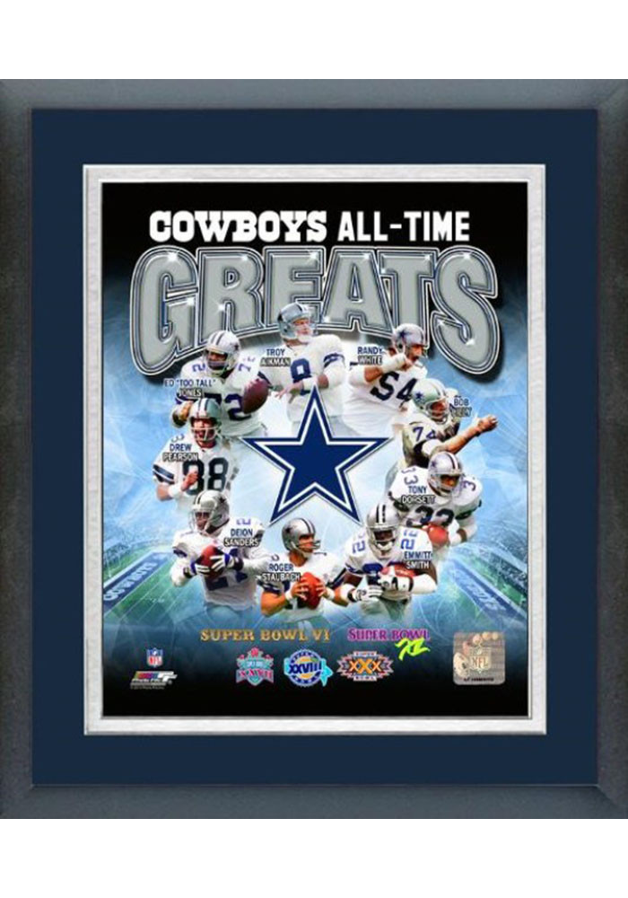 Dallas Cowboys All Time Great Frame Framed Posters - Image 1