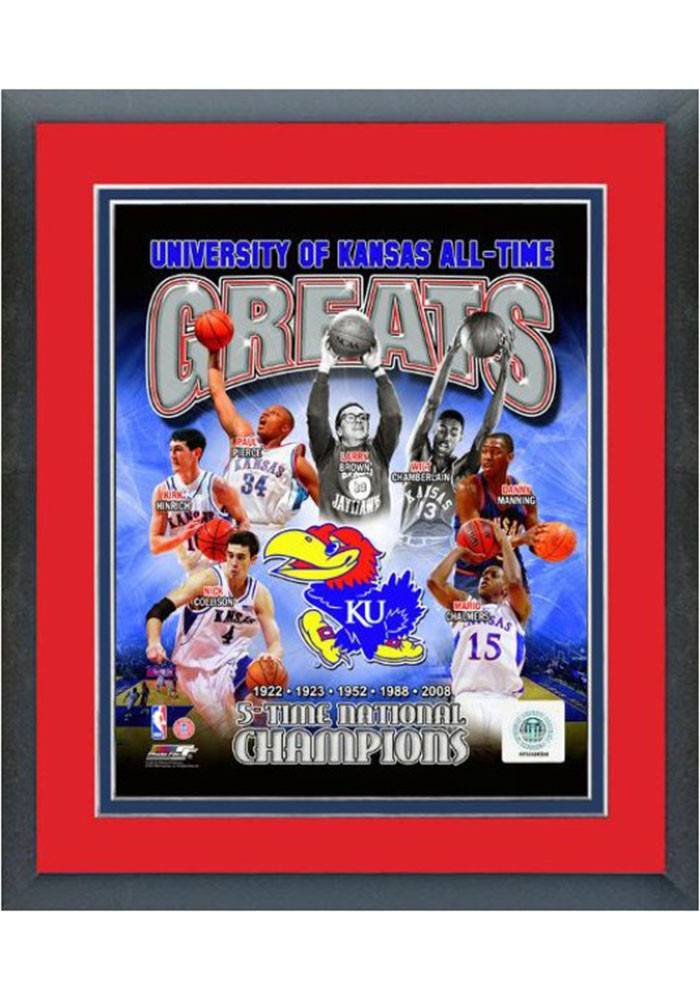 Kansas Jayhawks All Time Great Frame Framed Posters - Image 1