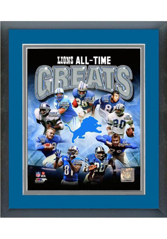 Detroit Lions All Time Great Frame Framed Posters - Image 1