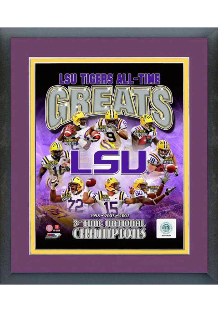 LSU Tigers All Time Great Frame Framed Posters - Image 1