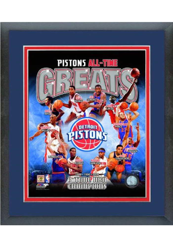 Detroit Pistons All Time Great Frame Framed Posters - Image 1