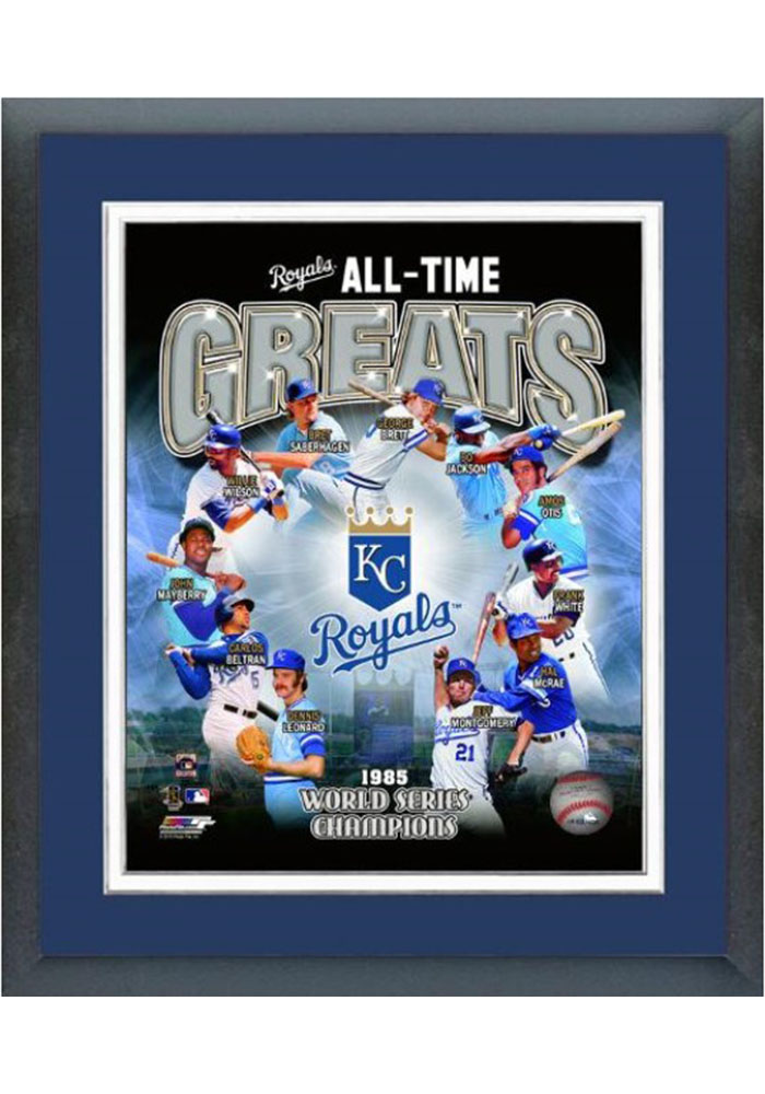 Kansas City Royals All Time Great Frame Framed Posters - Image 1