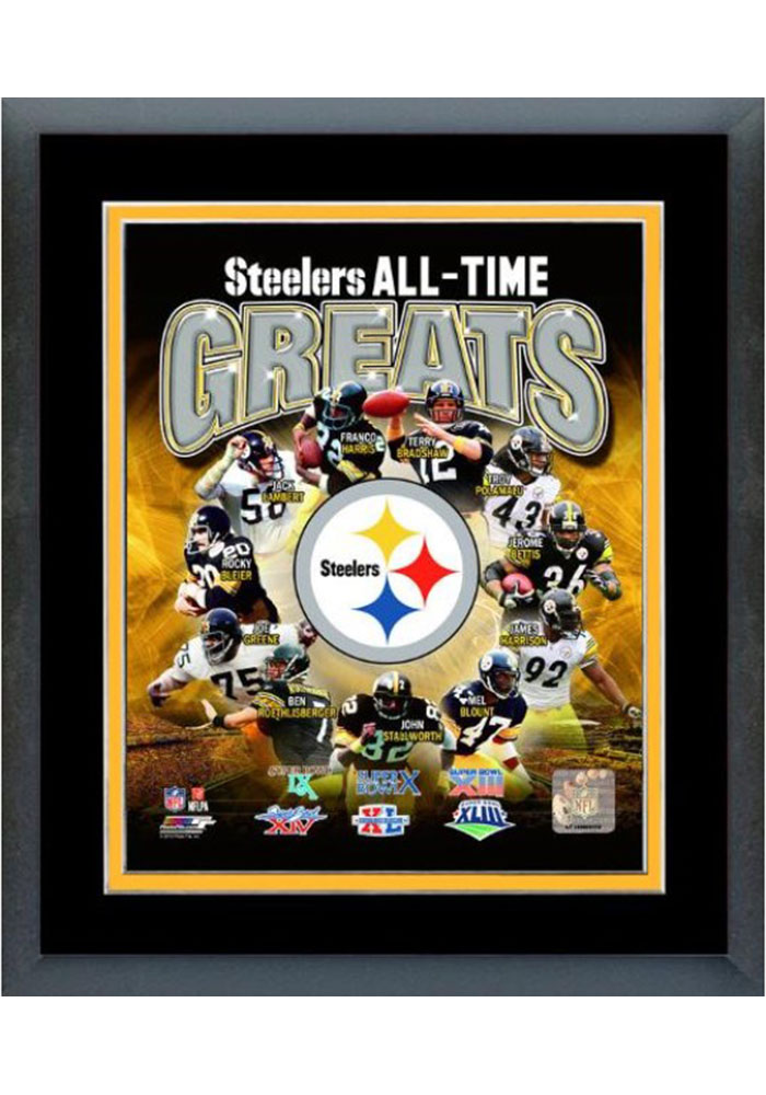 Pittsburgh Steelers All Time Great Frame Framed Posters - Image 1