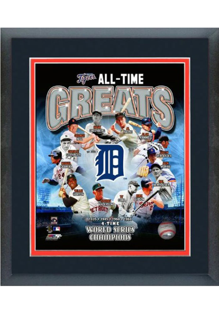 Detroit Tigers All Time Great Frame Framed Posters - Image 1