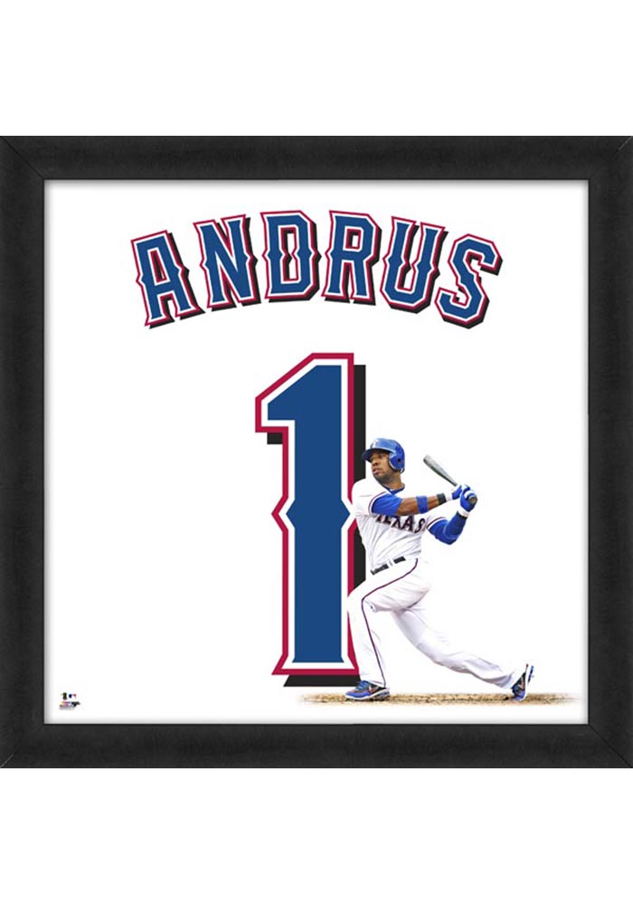 Elvis Andrus Texas Rangers 20x20 Uniframe Framed Posters - Image 1